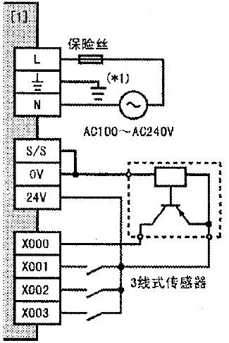 三菱fx3ga系列plc外部接线示意图